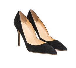 $enCountryForm.capitalKeyWord UK - Lucky2019 10 Cm Thin Hot Heels Sexy Pointy Shallow Mouth Ladies Black Stiletto Heel Banquet Single Shoes