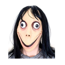 Halloween Games For School Australia - SCARY GAME MOMO Mask Full Face Latex Terror grimace masks Horror Mask For Halloween Cosplay Party