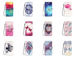 China 3D Leather Wallet Case For Samsung A10S A20S A30S A50S SONY X20 XZ5 Huawei Mate 30 Lite Catoon Unicorn Skull Flower Owl Butterfly Flip Cover cheap iphone 3d skull case suppliers