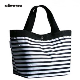 $enCountryForm.capitalKeyWord Australia - 2017 Women Beach Canvas Bag Fashion Color Stripes Printing Handbags Ladies Large Shoulder Bag Totes Casual Bolsa Shopping Bags