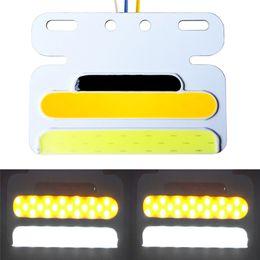Venta al por mayor de Luz de advertencia de camión amarillo universal de 24 V LED Luces de señalización laterales de remolque de COB, Lámpara de marca lateral trasera impermeable IP67 para camiones, Cabina RV