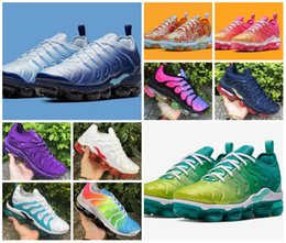China 2019 TN Plus Rainbow Running Shoes Mens Bumblebee Be True Grape Triple Black White Designer Shoes Womens USA Game Royal Sports Tn Sneakers cheap rainbow fabric running shoe suppliers