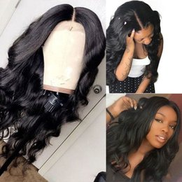 glueless lace wigs for black women Canada - Human Hair Lace Front Wigs Baby Hair Pre Plucked Malaysian Body Wave Glueless Virgin Full Lace Front Wigs For Black Women