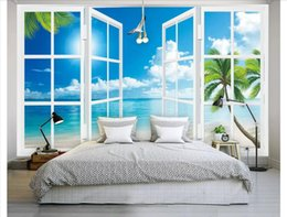 $enCountryForm.capitalKeyWord Canada - Papel de parede Custom 3d photo mural wallpaper home decor Out of the window scenery Aegean Sea view bedroom TV sofa background wall sticker