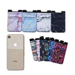 StickerS lg online shopping - Colorful Elastic Cloth Wallet Credit ID Card Cash Holder M Gadget Pocket Pouch Stick On Phone Pocket Stickers Mobile Phone