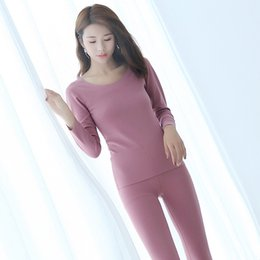 Discount seamless slimming suit - YF188 autumn and winter new plus velvet warm long-sleeved underwear women's seamless cotton slim bottoming shirt