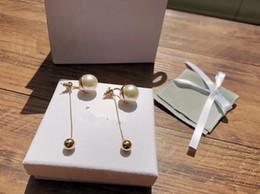 $enCountryForm.capitalKeyWord Australia - Vintage Classic Designer Tribale Copper Long Gold Chain White Pearl Charm Dangle Earrings For Women Jewelry