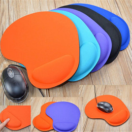 computer wrist support pads 2019 - PC computer desktop color mouse pad trackball PC thickening mouse pad with wrist support Mousepad Gamer desktop cheap co
