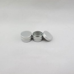 Cream ointment paCkaging online shopping - 5g ml Empty Aluminum Jars Refillable Cosmetic Bottle Ointment Cream Sample Packaging Containers Straight Cap