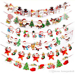 $enCountryForm.capitalKeyWord NZ - Christmas holiday scene layout banner Christmas decoration supplies cartoon bunting paper hanging flag factory direct Christmas decorations