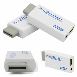 Full hd video converter online shopping - Hot Sale Wii to HDMI P Converter Wii2HDMI Adapter mm Jack Audio Video Output Full HD P Output For HDTV