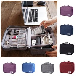 $enCountryForm.capitalKeyWord Australia - Data Line Charger Storage Bags Solid Color Cation Office Organizer Waterproof Outdoors Travel Handbags Portable New Arrival 11 5rj E1