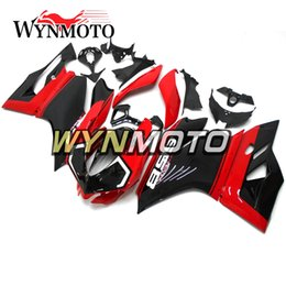 Motorcycle S Fairings NZ - Injection Motorcycle Full Fairing Kit For Ducati 899 1199 Year 2012 2013 899 1199 12 13 ABS Plastic Body Kits Gloss Red Black Cowlings
