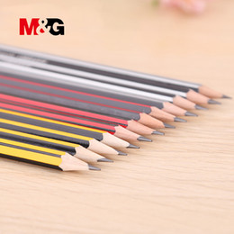 eraser sets Australia - M&G 12 pcs Crude Wood HB Pencils Standard Pencils for Drawing fabric clothing High Quality simple Pencil with erasers