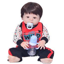 boneca toys 2019 - 55 cm Real baby reborn silicone inteiro Newborn baby alive Boy Dolls for Sale boneca bebes reborn menino child gift doll