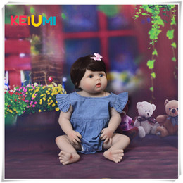 toy full body NZ - New Arrival 23'' 57cm Baby Girl Doll Full Silicone Body Lifelike Baby Reborn Bonecas Handmade Baby Toy For Kids Christmas Gifts CJ191212