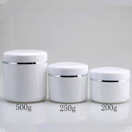 200g 250g 500g barattolo di crema, plastica di sub-imbottigliamento di trucco, contenitore cosmetico vuoto, scatola metallica per campioni, lattine di lozione F1759 in Offerta