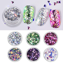 Beautiful nail acrylic online shopping - Beautiful D Triangle Shape Sequins Colors Boxed Nail Art Decoration Accessories For Nails set Shiny Sequins DIY Decora