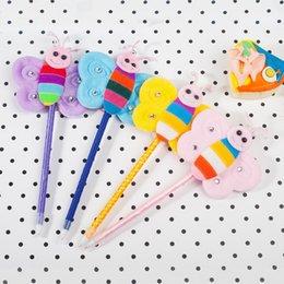 led plastic goods 2019 - Ballpen Plastic Cartoon Butterfly Blue Pencil Lead Fashion Office Supplie Advertising Promotion Gift For Children Writin