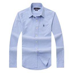 Wholesale plus size flannel shirts online – 19 Spring Men s Fashion Classic Comfortable Casual Long Sleeve Business Shirt Man Formal Shirt Plus Size M XL