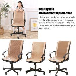 $enCountryForm.capitalKeyWord NZ - Summer Rattan Weaving Chair Cushion One-piece Seat Backrest Cushion Cool Breathable Office Chair Mat Pad Office Cool Mat