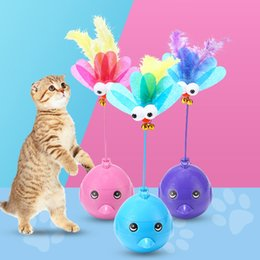 rolling pets toys Canada - Pet interactive cat magic laser toy ball battery laser bird electric light rolling ball funny pet cat dog toys