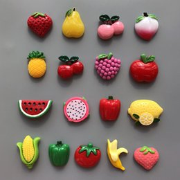 $enCountryForm.capitalKeyWord Australia - 10pcs Cute fruit and vegetable refrigerator stickers magnets Message Holder kitchen Ornament home decor