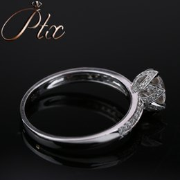 White Gold Moissanite Australia - newly input white gold DEF White Color Synthetic Moissanite Diamond Ring for women gift party luxury wearing