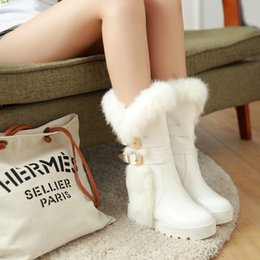 $enCountryForm.capitalKeyWord Australia - 2015 Women's Winter Shoes Buckle Low-heeled Snow Female Boots Elevator Medium-leg Thermal Sleeve Boots