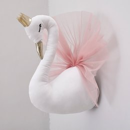 BaBy doll nursery online shopping - Baby Pillow Swan Crown Gauze Pillow Cushion Baby Sleeping Dolls Wall Hangs Photography Props Children s Bed Room Nursery Decor SH190917
