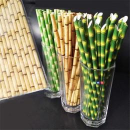 Paglia di carta di bambù biodegradabile paglia di bambù ecologico 25 pz / lotto uso del partito bar cannucce sulla promozione 300 lot