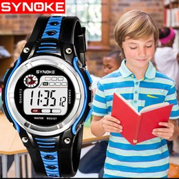 kids digital sports watch Australia - SYNOKE Digital watches kids Two-color Large Screen Student Children's Sports Waterproof Electronic Watch orologi bambini #N03