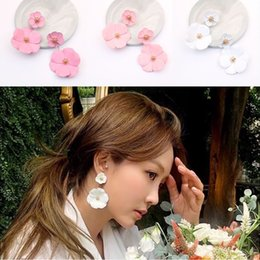 Best designed earrings online shopping - 201909 New Design Women Fashion Charm Jewelry Color Spray Paint Flowers Multi Layer Earring Detachable Earrings Christmas Best Gift M552A