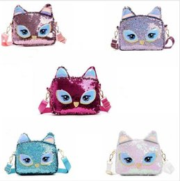 Discount big eyes handbags - Baby Mini Bag Sequins Owl Big Eyes Cartoon Children Shoulder Messenger Pouch Ladies Casual Handbag Purse Crossbody CFYZ2