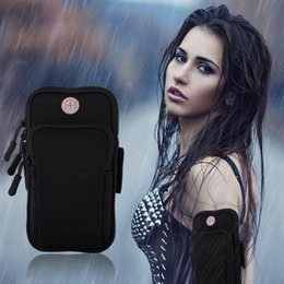 Gym Cell Phone Holder Australia - Waterproof Workout Running Armband Bag Gym Sports Arm Band Cell Phone Cover Bag Pouch With Key Holder Universal Cell Phones Arm Bag Band