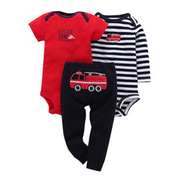 305f26814 Spring Autumn Baby Boy & Girl Clothing Set Long Sleeve Bodysuit Short Sleeve  carter Cotton Jumpsuit Long Pants Bebes Boy Bodysui Y190515