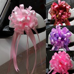 Pull ribbon bows online shopping - 10pcs wedding car decoration flower Pull Bow Ribbons Gift Birthday Party Supplies Home Decoration DIY Pull Flower Ribbons SH190920
