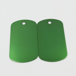 Army Green Aluminum Dog Tags 100pcs lot Wholesale Blank Pet Dog ID Tags Pendants Size 50*29mm on Sale