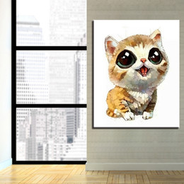 $enCountryForm.capitalKeyWord NZ - Modular Canvas Artwork Picture Framework DIY Digital Animal Cat Oil Painting By Numbers Kits Colors Drawing For Kids Unique Gift