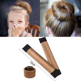 $enCountryForm.capitalKeyWord Australia - Girls Wig Hair Curls Accessories Bud Ball Hair Band French Periwig Tool Twist Kids Bun Maker Child Drop Ship