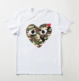 4aec29c23 19SS Nuevo estilo Impresión de patrón de corazón de melocotón variado para  mujer Diseñador Camisetas Pure Cotton Red Heart Shirt Camiseta de mujer  Moda ...