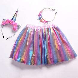 $enCountryForm.capitalKeyWord Australia - 2019 summer 3pcs set tutu skirt for girl new baby tutu skirts with hairbands for juniors kid fashion colorful clothing set for gift