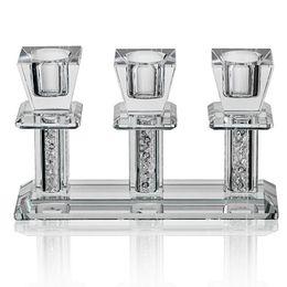 Crystal Table Decor Australia - H&d Clear Crystal Taper Holder 3 Arms Candlestick Holder, Dinner Table Decor, Candlestick Holder Y19061901