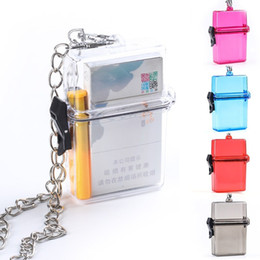 hot box types NZ - Hots Sale Cigarette Box Plastic Portable Smoking Accessories Hanging Neck Type Transparent Cigarette Boxt Free Shipping