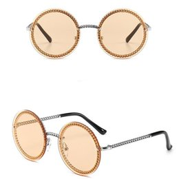 Chains For Mirrors Australia - 2019 New Designer Sunglasses C For Women Metal Chain Shape Round Frame Fashion Brand Same Model 7 Colors