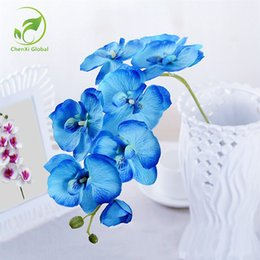 $enCountryForm.capitalKeyWord Australia - Hot Sales orchid 9 colors Artificial flowers DIY Decorative orchid Silk Flower Bouquet Phalaenopsis for Wedding Home Decor