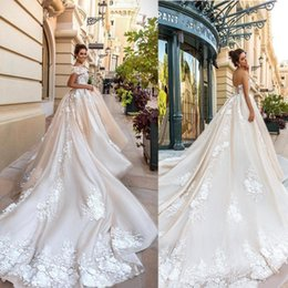 3d lace wedding dresses Australia - 2020 Vintage Strapless Wedding Dresses 3D Floral Applique Lace Up Back Luxury Bridal Gowns Plus Size