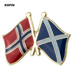 Wholesale Norway Scotland friendship Flag Lapel Pin Flag Badge Lapel Pins Badges Brooch XY0494