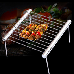stainless bbq grills NZ - Portable Stainless Steel BBQ Grill Folding BBQ Grill Mini Pocket BBQ Grill Barbecue Accessories For Home Park Use T191203