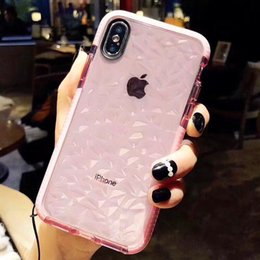 Vente en gros Pour iPhone 6 6s Plus 7 Plus 8 Plus X XR Xs Max Cas Femmes Filles Hommes Garçons Cristal Clair Mince 3D Diamant Motif Souple TPU Housse De Protection